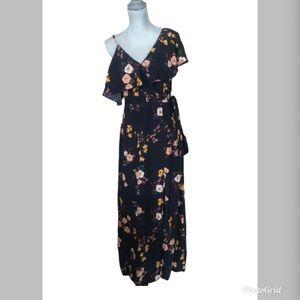 NWT Sanctuary Aria Urban Woodlands Navy Maxi Dress